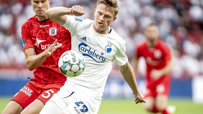 Mikkel Kaufmann i aktion for FCK.