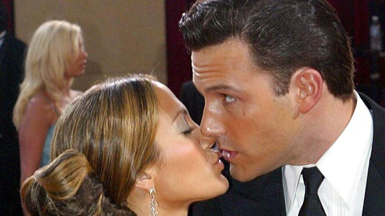 Ben Affleck og Jennifer Lopez til Oscar-festen i 2003.