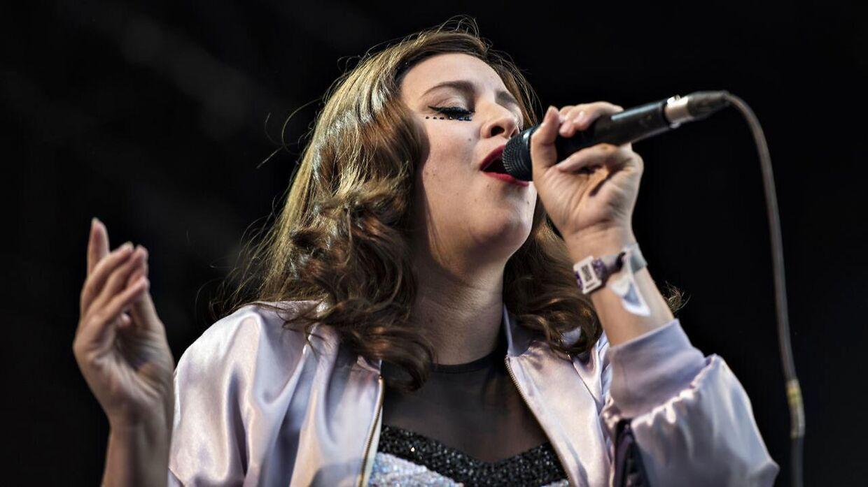 Fallulah gav koncert på Stjernescenen ved Smukfest i 2016.