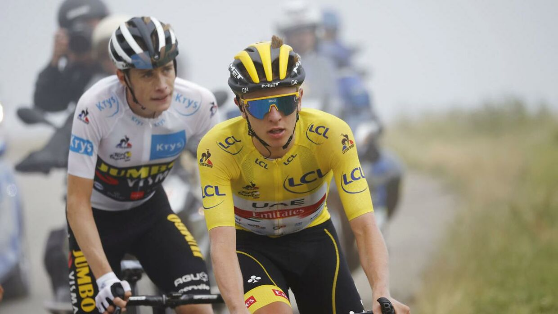 Jonas Vingegaard og Tadej Pogacar. De stærkeste klatrere i årets Tour de France.