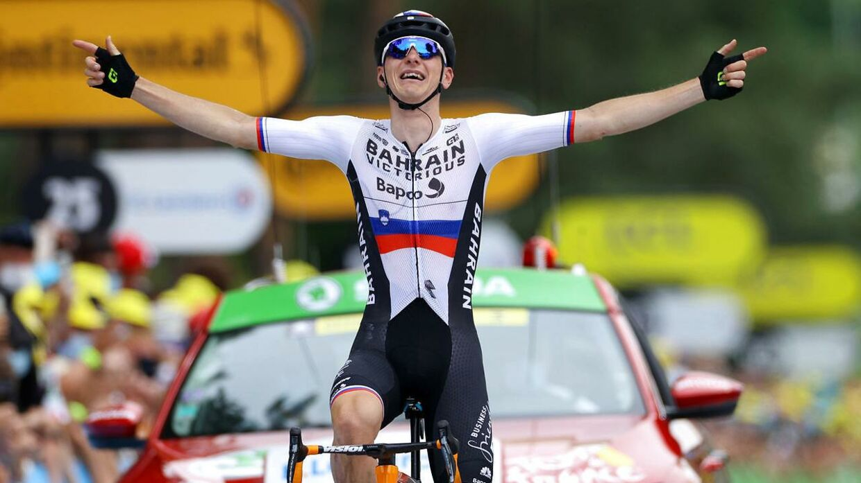 Bahrain Victorius' Matej Mohoric sejrer på Tourens 7. etape.