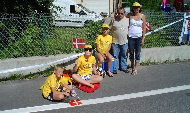 Familien Vingegaard har fulgt Tour de France tæt.