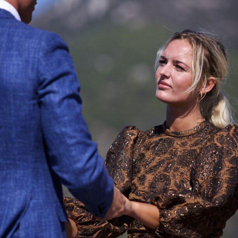 Louise Andresen tog det med oprejst pande, da Jaffer Janjooa ikke kunne give hende den sidste rose.