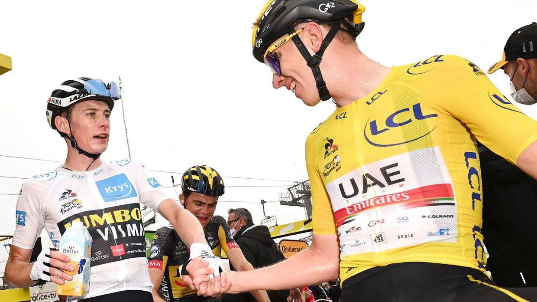 De to unge ryttere i front af årets Tour: Danske Jonas Vingegaard og sloveneren Tadej Pogacar.