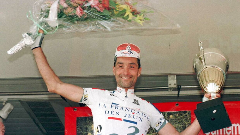 Schweizeren Mauro Gianetti i sin aktive karriere. UAE-chefen har en mørk, mørk dopingfortid. Både som rytter og sportsdirektør.