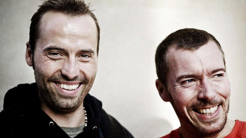 Torben Chris og hans kollega Thomas Hartmann, som han er tour-aktuel med til efteråret med showet 'Men's Room 4'.