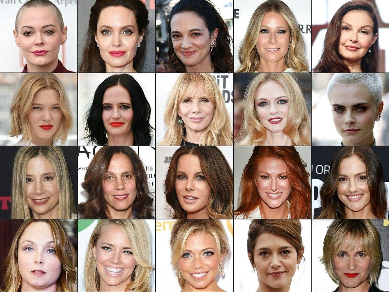 Rose McGowan, Angelina Jolie, Gwyneth Paltrow, Rosanna Arquette ... Næsten 90 kvinder er i dag stået frem med beretninger om overgreb og krænkelser begået af Harvey Weinstein.