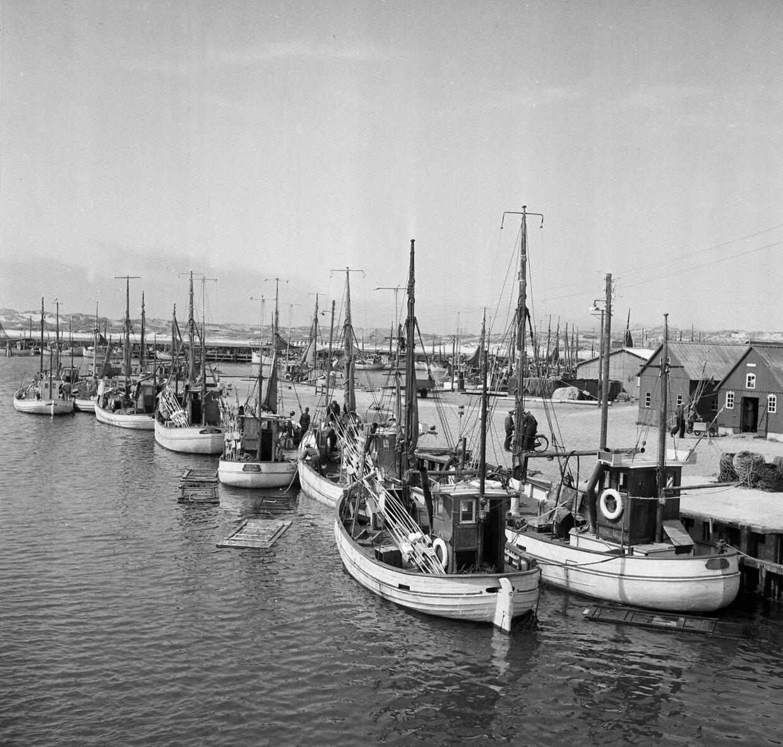 Sådan så Glyngøre ud, da den stadig var en driftig fiskeriby. I dag er den ved at genopfinde sig selv, blandt andet som et kulinarisk udflugtssted.