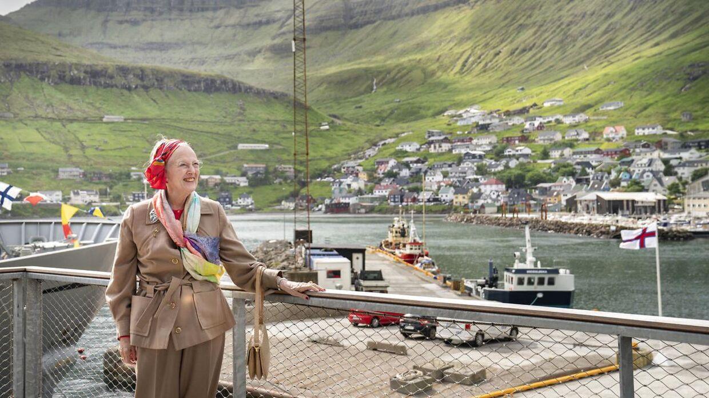 Her er dronning Margrethe i Fuglafjørður.