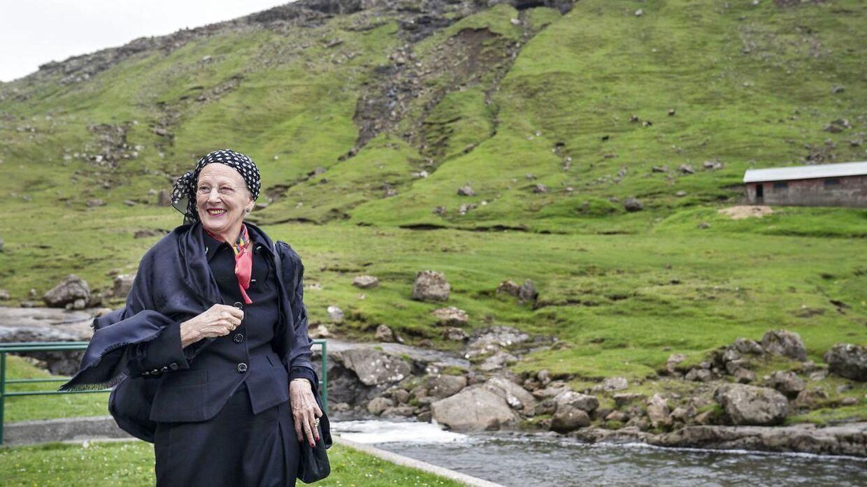 Dronning Margrethe besøger Færøerne. Her besøger hun Mýruverkið (pumpekraftværk) i Vestmanna.