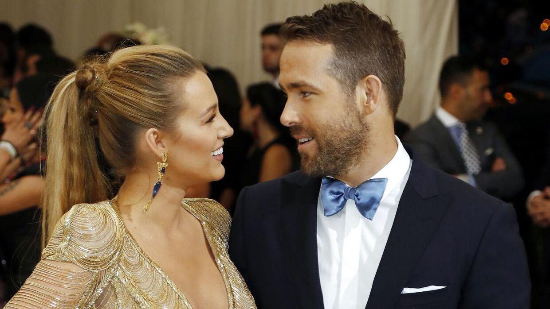Blake Lively med ægtemanden Ryan Reynolds.