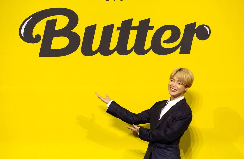 K-pop-stjernen Jimin, som influenceren Jimin mener at ligne på en prik. EPA/JEON HEON-KYUN