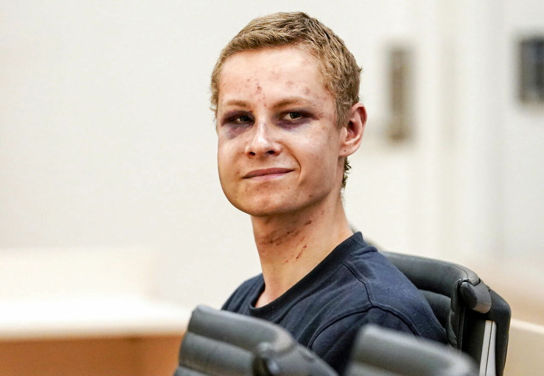 21-årige Philip Manshaus efter terrorangrebet.