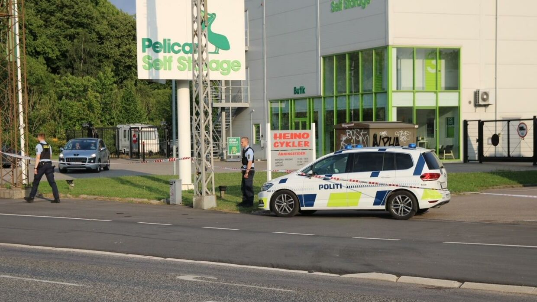 Politiet til stede i Glostrup. Foto: Pesse-fotos.dk