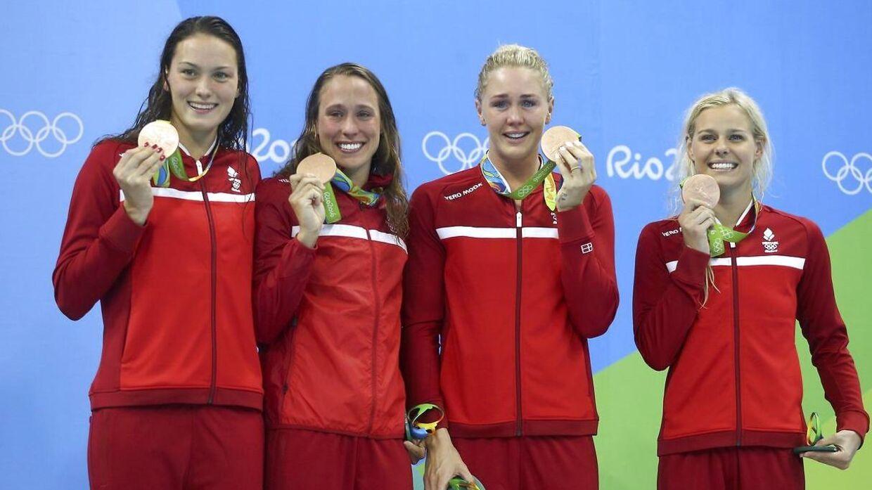 Jeanette Ottesen og resten af landsholdet vandt bronze i holdkap ved OL i Rio i 2016.