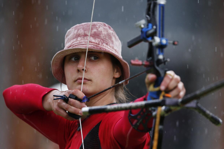 Maja Jager debuterede ved OL i 2012. Natten til fredag dansk tid skal hun i aktion som en af de første danske atleter ved OL i Tokyo. (Arkivfoto) Suhaib Salem/Reuters