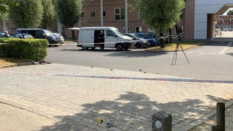 Politiet har afspærret et område.Foto: Presse-fotos.dk