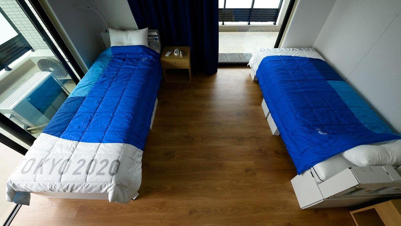 Atleternes senge er i år bygget af pap.