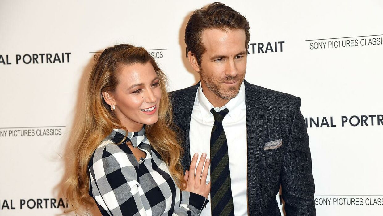 Ryan Reynolds med sin hustru, skuespillerinden Blake Lively.