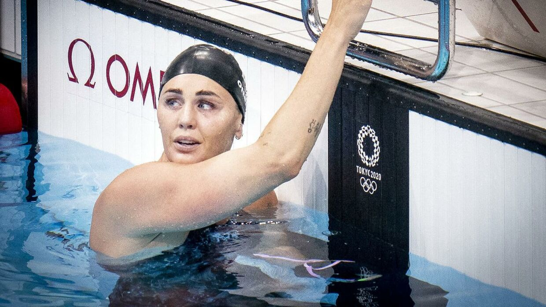 Jeanette Ottesen svømmede sit sidste løb søndag ved OL i Tokyo.