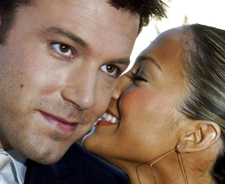 Parret fotograferet sammen i 2003.