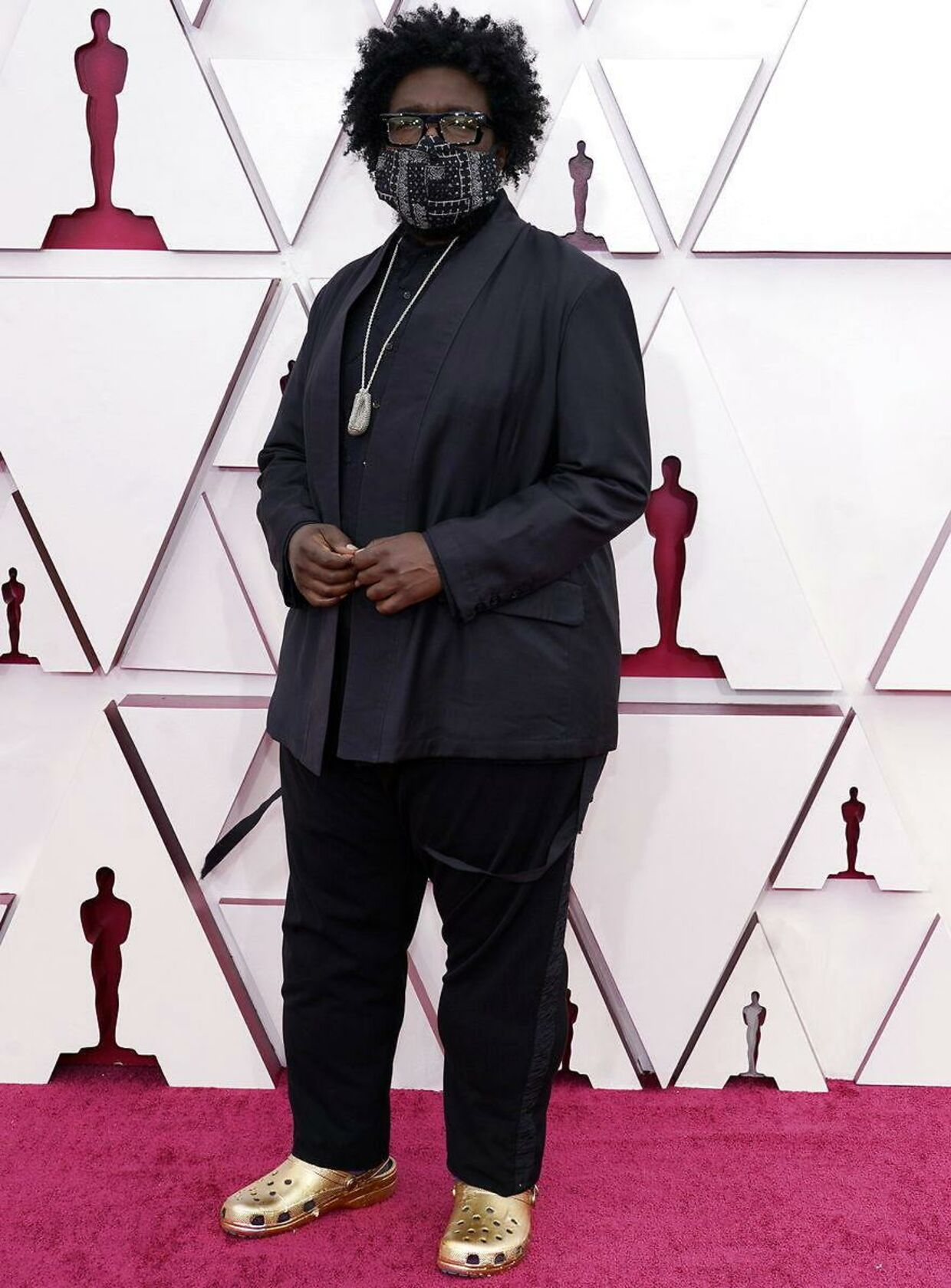 Musiker Questlove ankommer til Grammy Awards i crocs.