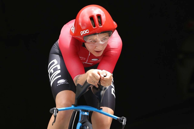 Tokyo 2020 Olympics - Cycling - Road - Women's Individual Time Trial - Final - Fuji International Speedway - Shizuoka, Japan - July 28, 2021. Emma Norsgaard of Denmark in action. REUTERS/Christian Hartmann