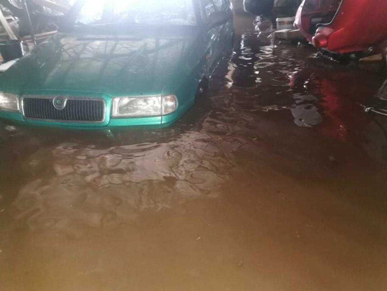 Tage Damgård Jensens garage blev oversvømmet, da skybruddet rasede.