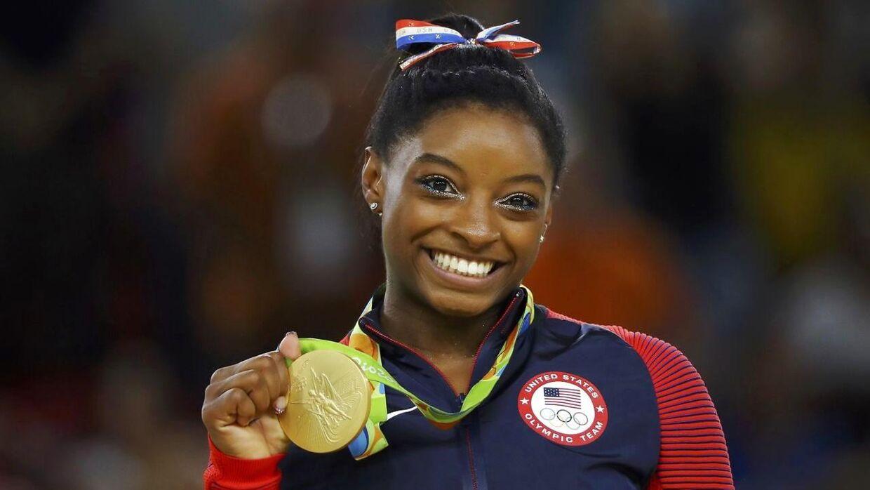 Simone Biles vandt fire guldmedaljer ved OL i Rio i 2016.