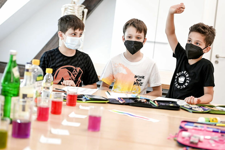 Børn i Tyskland lærer om Covid-19