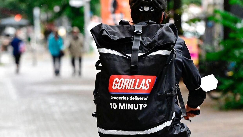 Gorillas kommer med dine varer på kun ti minutter, siger de