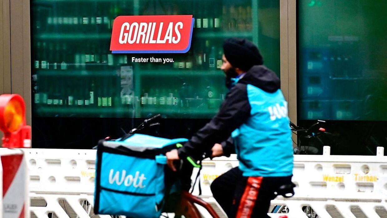 Gorillas er 'hurtigere' end Wolt