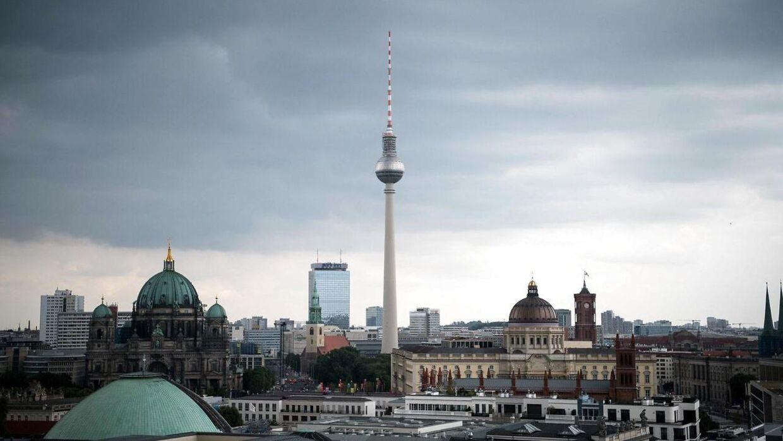 Det er i udkanten af Berlin, at skudepisoden fandt sted. Foto: Scanpix