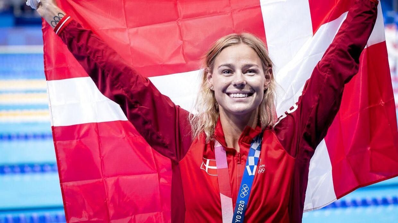 Pernille Blume blev nummer tre i 50 meter fri ved OL.