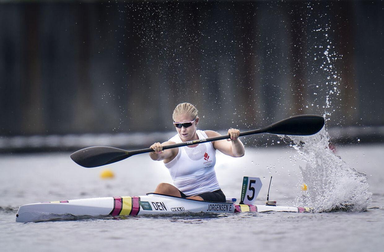 Emma Aastrand Jørgensen i 200 m enerkajak til OL i Tokyo, mandag den 2 august 2021