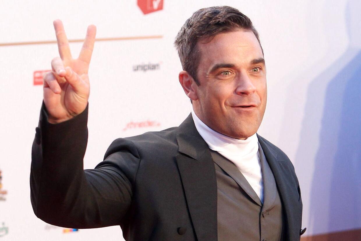 Robbie Williams fotograferet for et par uger siden i Tyskland EPA/MALTE CHRISTIANS