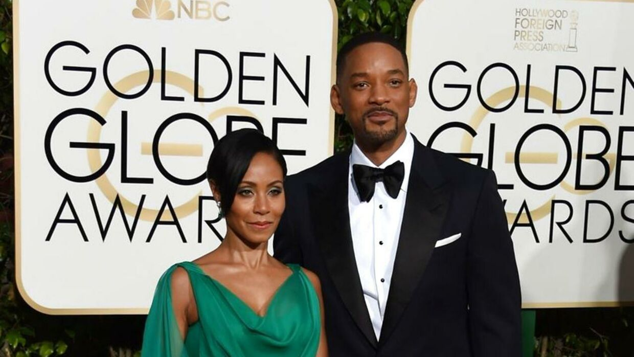 Jada Pinkett Smith, and Will Smith arrive for the 73nd annual Golden Globe Awards, January 10, 2016, at the Beverly Hilton Hotel in Beverly Hills, California. AFP PHOTO / VALERIE MACON