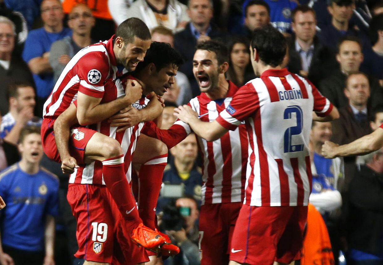 Atletico Madrid-spillerne jubler