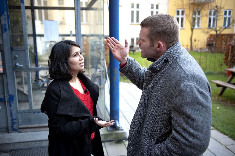 SF´s Özlem Cekic og Liberal Alliances Joachim B.Olsen tørnede mandag sammen i en ophedet debat