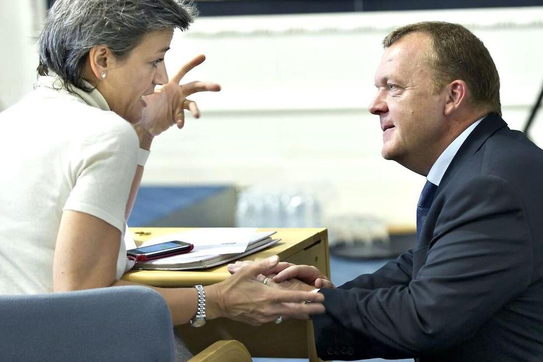 Margrethe Vestager og Lars Løkke Rasmussen.
