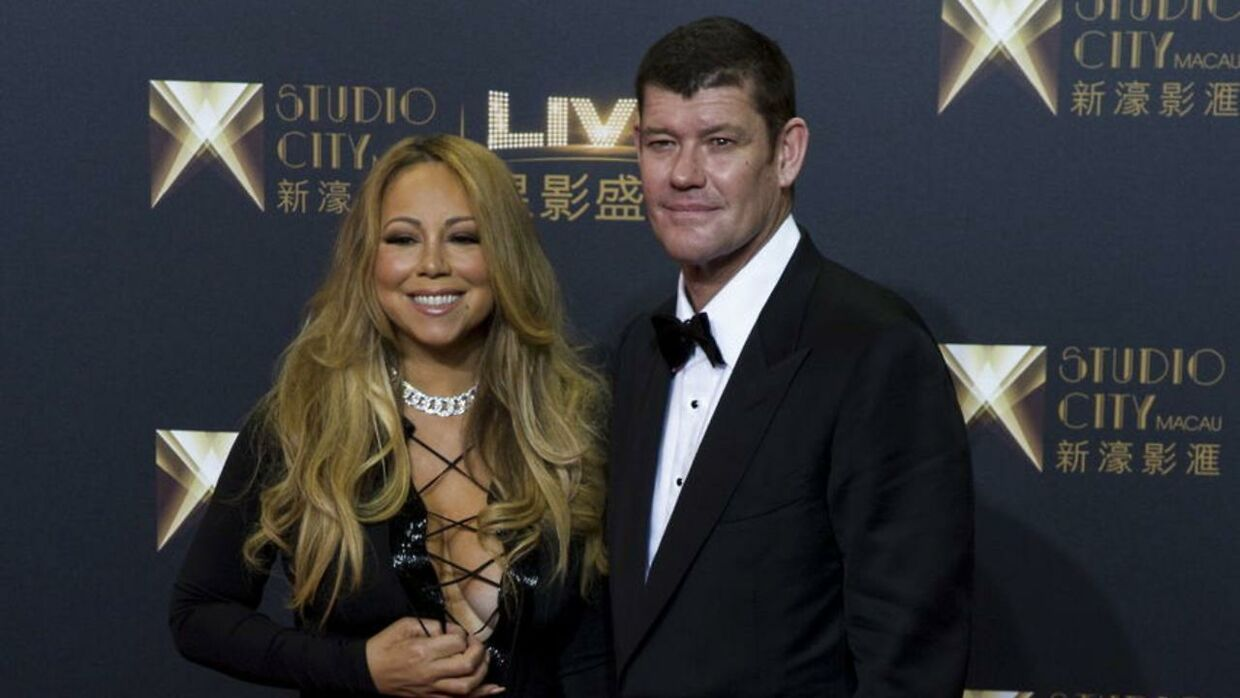 Mariah Carey og den kommende mand James Packer. REUTERS/Tyrone Siu