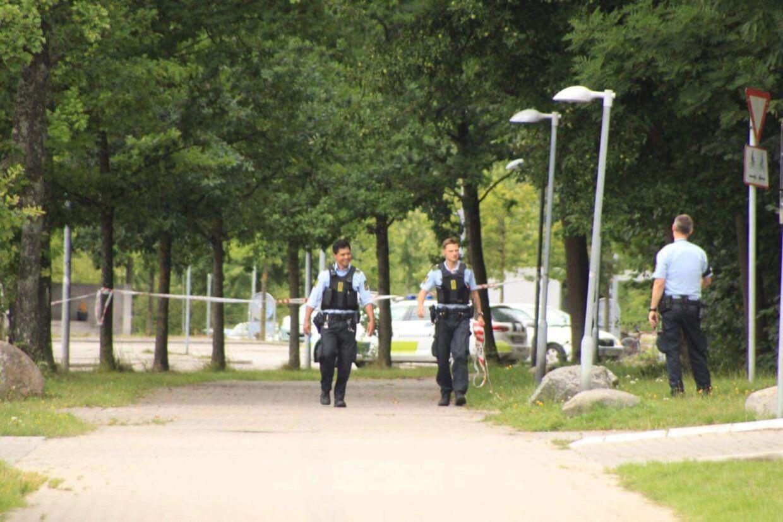 Politiet er massivt til stede i Snekkersten