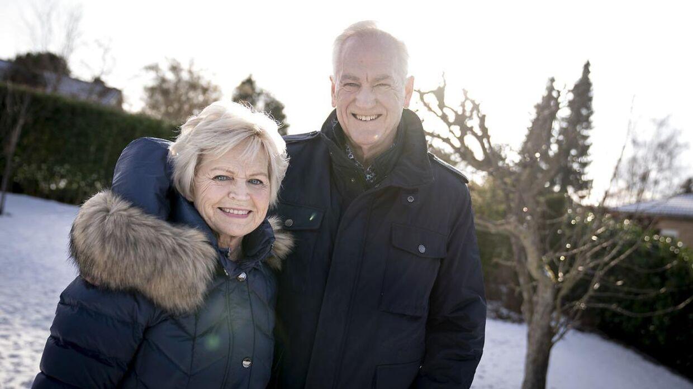 Komponist, sanger og musiker Keld Heick og hans kone Hilda, i Vedbæk.