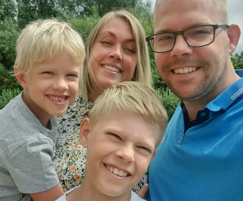 Familien Harbo Sørensen fik sig noget af en overraskelse på vej hjem fra en ferie i Italien.