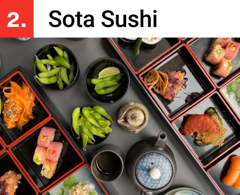 Sota Sushi serverer bento-bokse, som er en japansk spise med små portioner af forskellige retter.