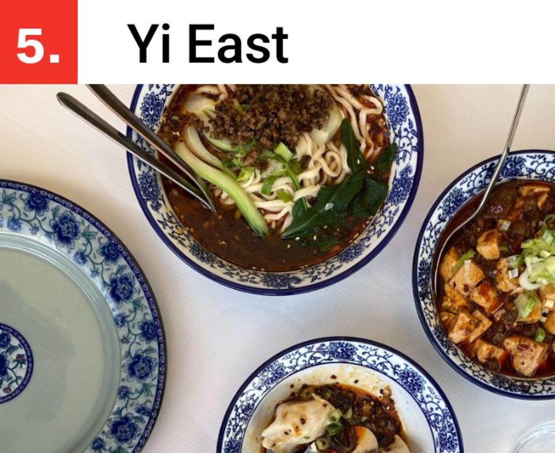 Hos Yi East serverer de traditionel kinesisk mad.
