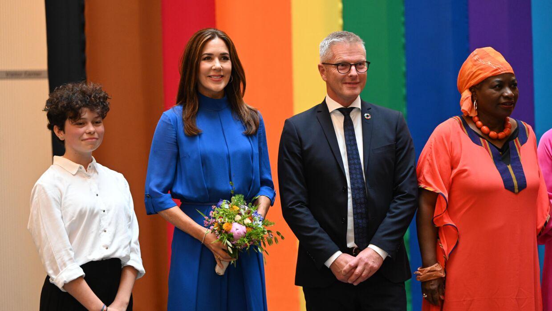 Наследная принцесса Мэри принимает участие в открытии Форума по правам человека в городе ООН в Копенгагене.