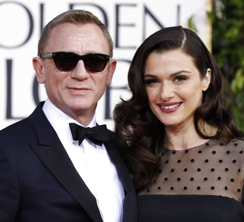 Daniel Craig og Rachel Weisz på den røde løber til Golden Globe Awards i Beverly Hills, 2013.