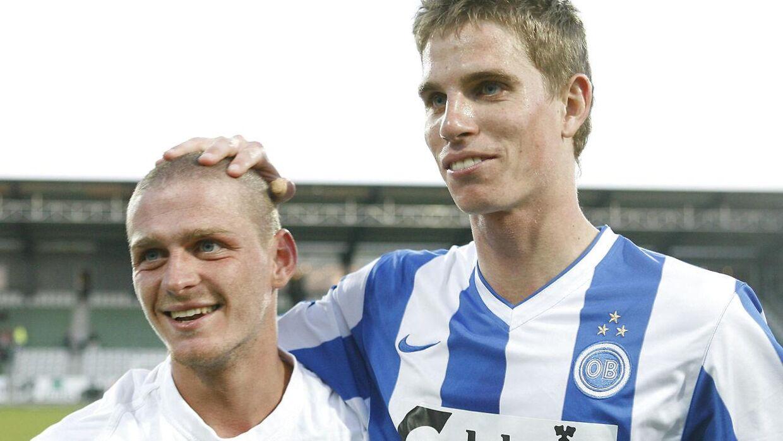 Jonas Borring (th.) med Johan Absalonsen, der selv kunne have optrådt på listen, hvis ikke han var skiftet på en fri transfer til FCK.