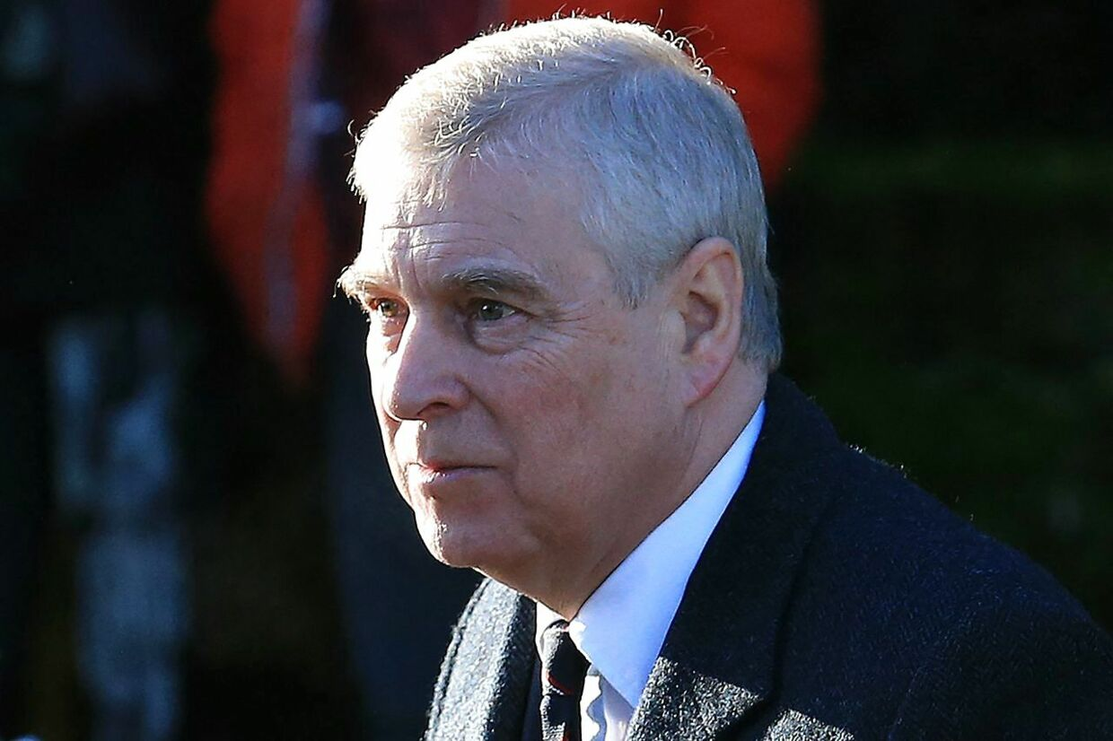 """(FILES) In this file photo taken on January 19, 2020 Britain's Prince Andrew, Duke of York, arrives to attend a church service at St Mary the Virgin Church in Hillington, Norfolk, eastern England. - Britain's Prince Andrew was sued in a New York court on August 9, 2021 for alleged sexual abuse of a woman who says she was """"lent out"""" for underage sex by late US financier Jeffrey Epstein. (Photo by Lindsey Parnaby / AFP)"""
